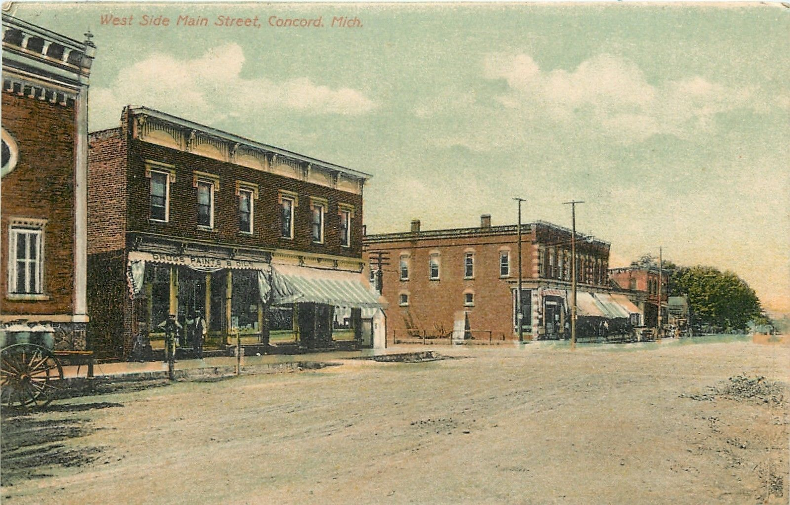 West Side Main st Concord Mich 1910